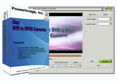Click to view Max DVD to MPEG Converter 6.8.0.6107 screenshot